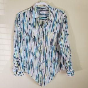 Equipment Femme Silk Blend Long Sleeve Blouse